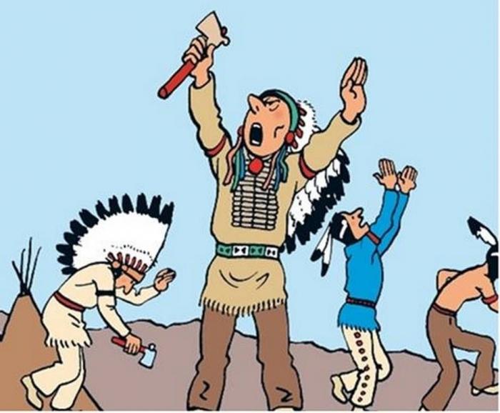Salah satu adegan di seri Tintin in America. Sumber: Theglobeandmail.com