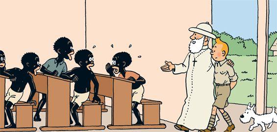 Adegan di Tintin in Congo. Sumber: Tintin