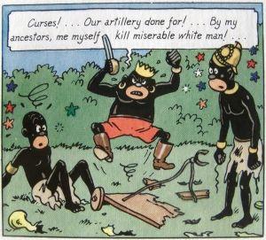 Adegan di Tintin in Congo. Sumber: Wikipedia