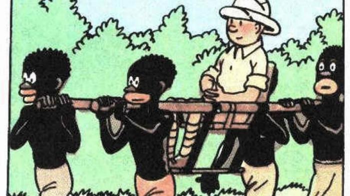 adegan di Tintin in Congo. Sumber: The France 24 Observers