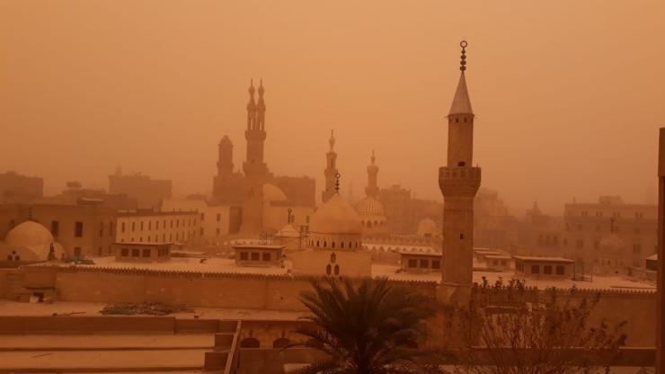 Badai pasir di Kairo (16/01) [dokumentasi pribadi]
