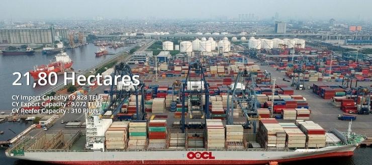 Pelabuhan Peti Kemas di Tanjung Priok (Sumber: SP JICT)
