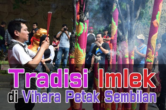 Tradisi perayaan Imlek di Vihara Dharma Bhakti Petak Sembilan, Glodok, Jakarta Barat. (Foto Ganendra)