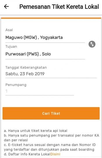 Aplikasi Pemesanan Tiket Ka Lokal Yang Bermasalah Oleh Ikrom Zain