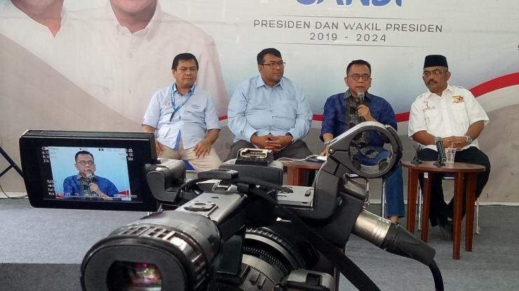Jumpa pers di Seknas Prabowo sikapi kasus WNA masuk DPT  (dok. pribadi)