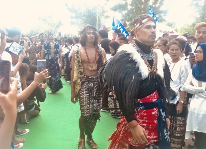 Sumber: dokpri, fashion show tenun khas NTT, Kupang, 2 Maret 2019.