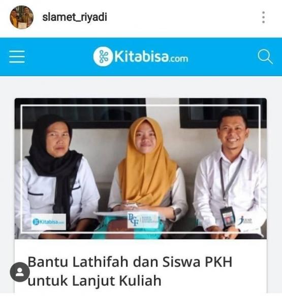 Sukses Bantuan PKH dan Inovasi Ayo Kuliah (dok. pribadi)