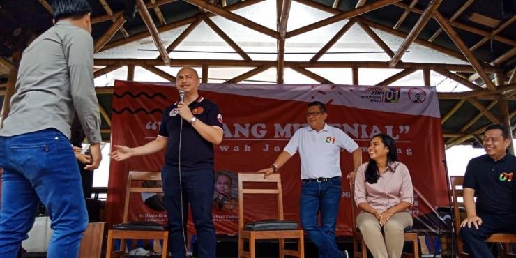 Acara Bincang Milenial Arus Bawah Jokowi di Lampung. Foto dok.pribadi
