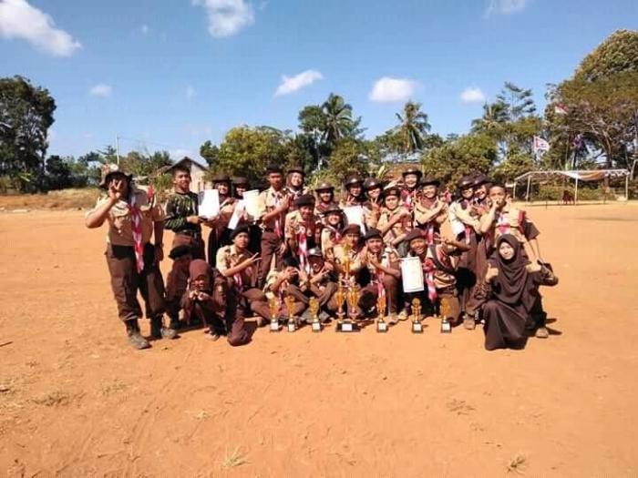 Prestasi Ekstrakurikuler Pramuka Ponpes Al Aman Cimanggu Sukabumi.