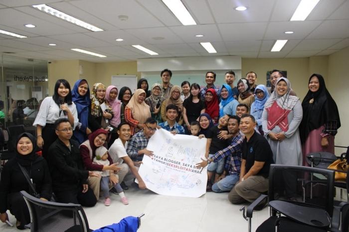 Dukungan blogger atas gerakan Tangkis Eksploitasi Anak. Dok by Lentera Anak