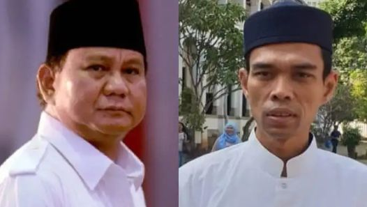 Prabowo dan ustadz Abdul Somad.sumber : kolase tribunwow.com/instagram@ustadz abdul somad