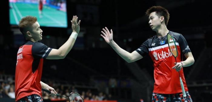 Marcus Gideon/Kevin Sanjaya/Foto: Twitter Badminton Ina