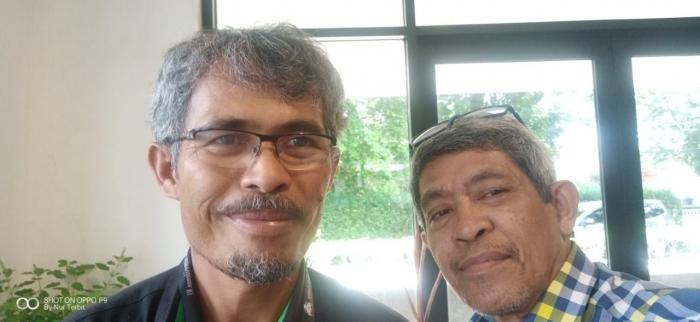 Saya bersama Pak Marandus Sirait (dok Nur Terbit)