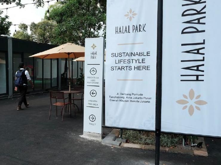 Halal Park yang baru saja diresmikan oleh Presiden Jokowi pada 16 April 2019 (Foto: Anas Nur Huda/Media Keuangan)