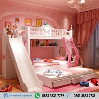 Tempat Tidur Tingkat Minimalis Ranjang Susun Anak 3 Bed Kayu