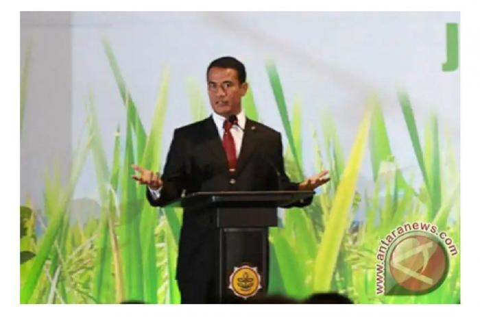 Deskripsi : Menteri Pertanian Andi Amran Sulaiman saat membuka Rakernas Kementan RI 2019 I Sumber Foto : Antara News