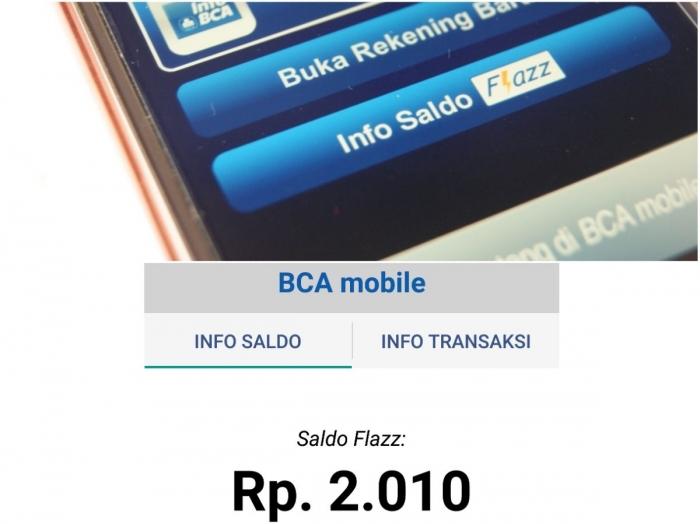 Sisa saldo Flazz BCA saya setelah digunakan untuk belanja pada 14 Mei 2019. Saldo bisa dicek dengan mudah menggunakan aplikasi BCA mobile pada smartphone ber-NFC (dok. pri).