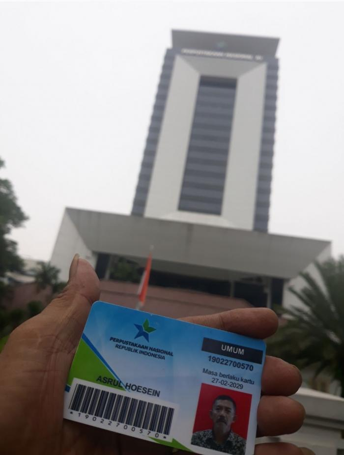 Ilustrasi: Gedung Perpustakaan Nasional RI di Jalan Medan Merdeka Selatan Jakarta Pusat (15/05). Sumber: Pribadi.