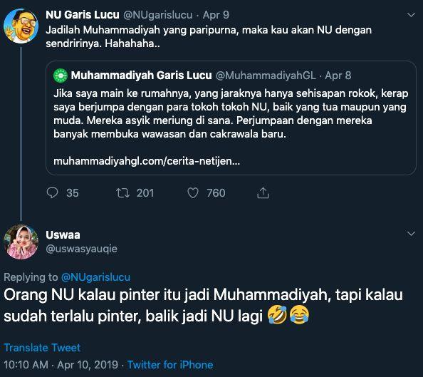 Tangkap layar akun Twitter @NUgarislucu