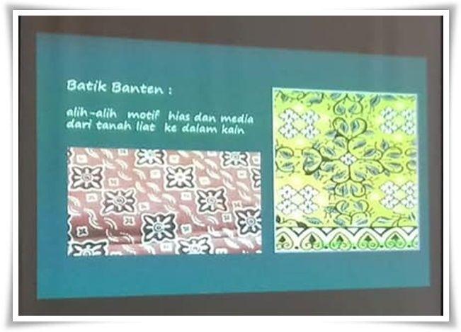 Motif pada tembikar menjadi inspirasi motif batik Banten (Dokpri)