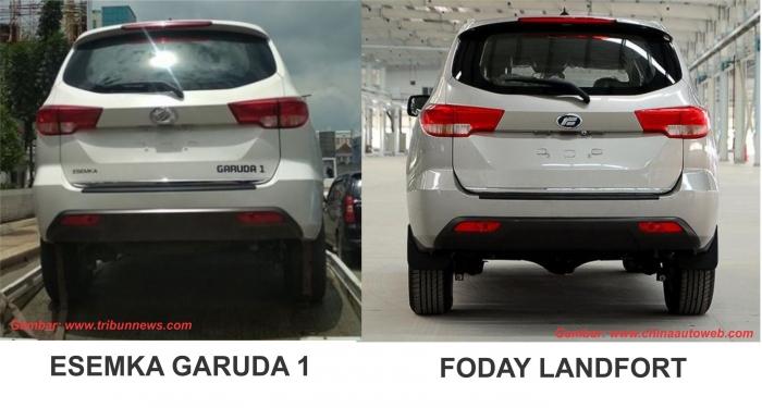 Perbandingan Esemka Garuda 1 dan Foday Landfort | sumber pada gambar