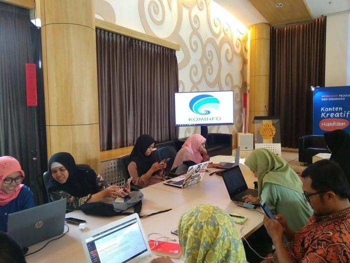dok.pri Pegiat Blog peserta workshop Konten Kreatif Hankam KOminfo siap Menjaga Persatuan dan KEsatuan