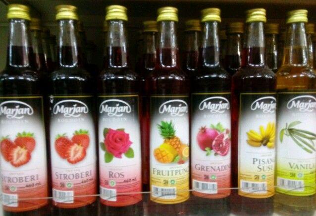 Sirup Marjan, salah satu produk minuman yang rajin taang di media televise setiap bulan Ramadan (Sumbera: dokumen pribadi)