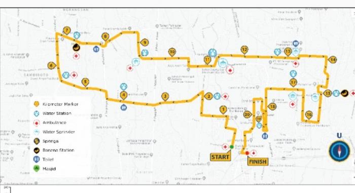 Rute Mandiri Jogja Marathon 21K