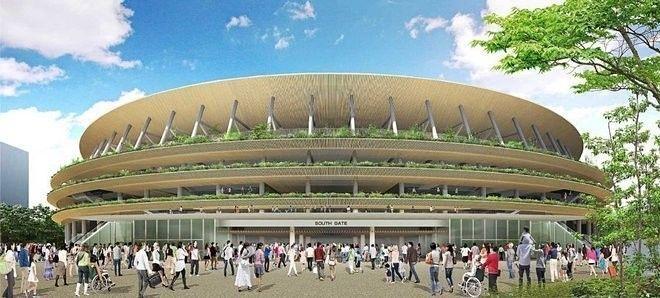 www.archdaily.com - Konsep eksterior Stadion utama Olimpiade 2020, denan garis2