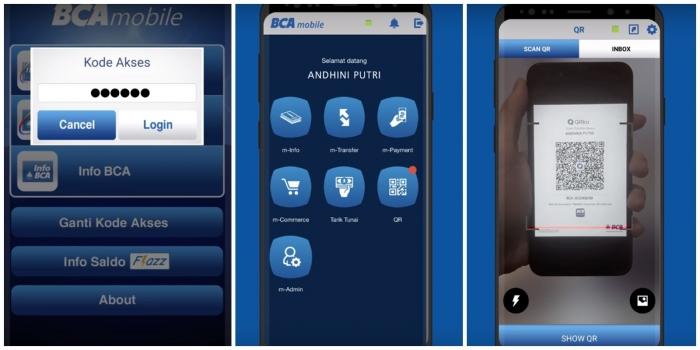 langkah-langkah menggunakan QR dari BCA Mobile   sumber: youtube Solusi BCA