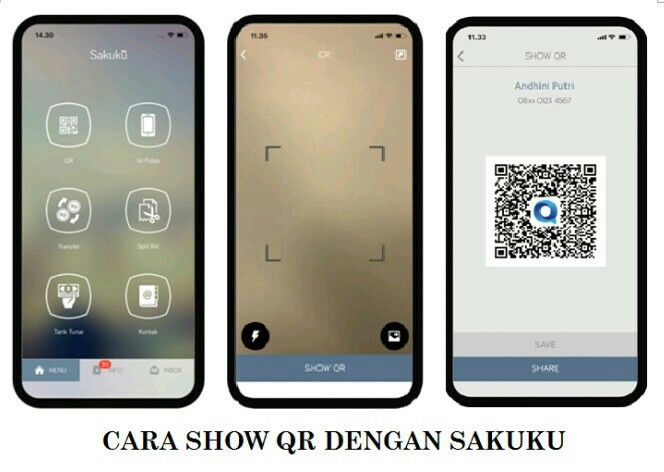 Cara Show QR pada Sakuku (Sumber: bca.co.id)