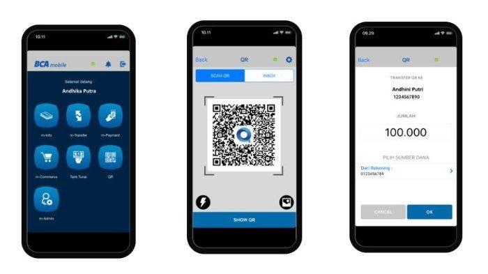 Cara transfer dengan menggunakan aplikasi BCA Mobile. (Sumber Gambar: bca.co.id)