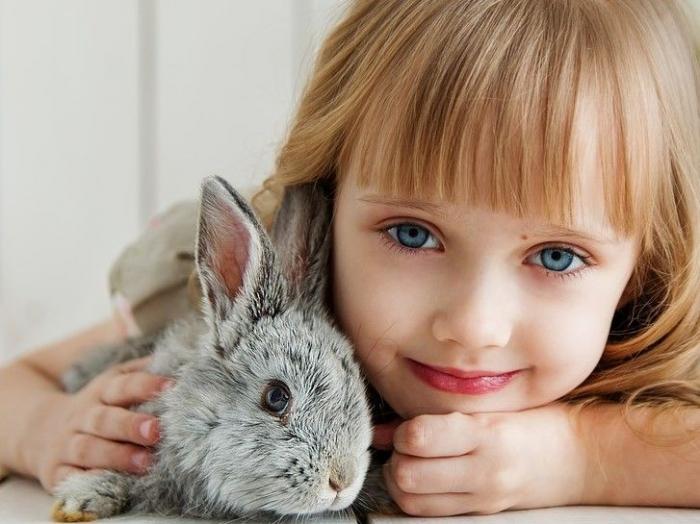 Ilustrasi Persahabatan Anak dan Kelinci. Sumber Foto : https://pixabay.com