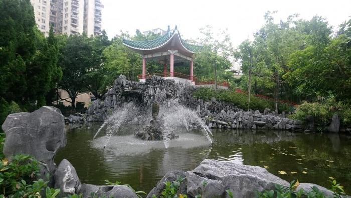 Chinese Style Garden, di air kolam ini terdapat banyak kura- kura | Dokumentasi Pribadi
