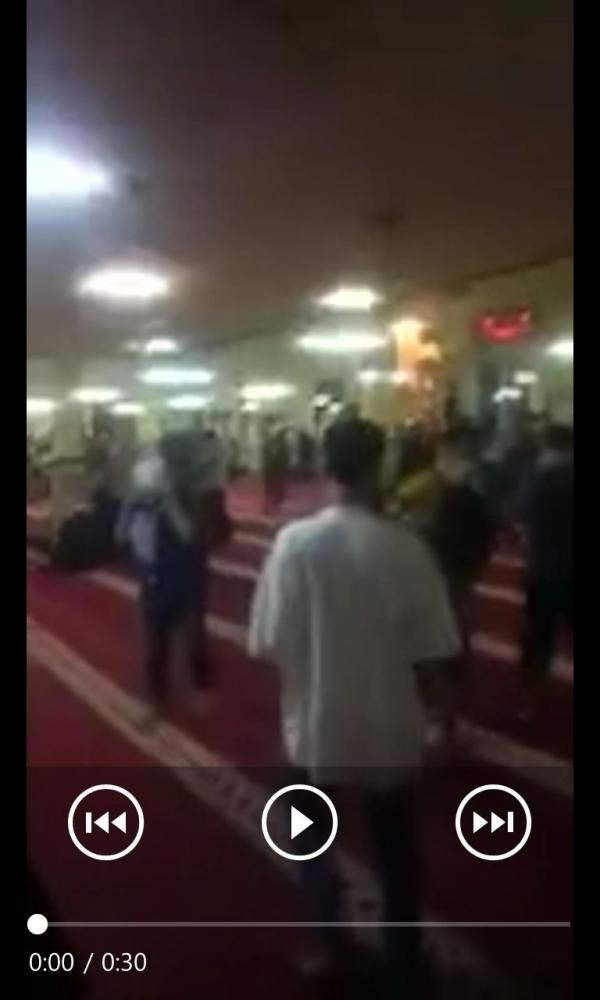 Screenshoot video yang sempat tersebar di grup WA, lokasi disebut di Masjid Al Makmur, Tanah Abang (dokpri).