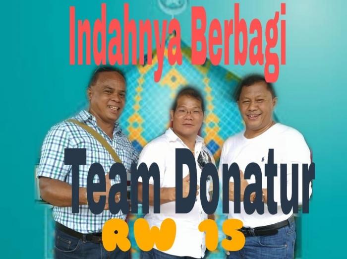 Team Donatur Berbagi Kebahagiaan Yatim dan Duafa RW 15 Perumahan Binong Permai Tangerang/Foto: Ist