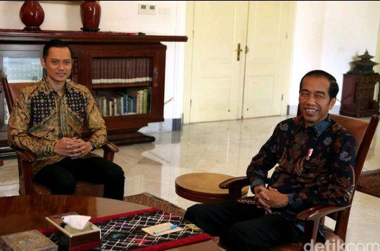 Petemuan AHY dengan Jokowi.sumber : Detikcom