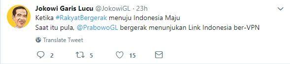 tangkap layar akun @JokowiGL. Gambar: dokpri