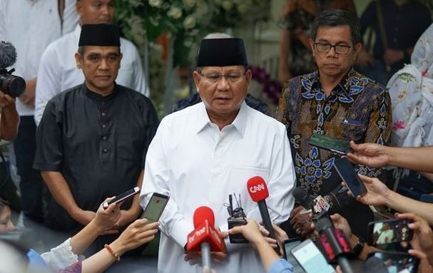 Prabowo di Cikeas I Gambar : Kompas.com