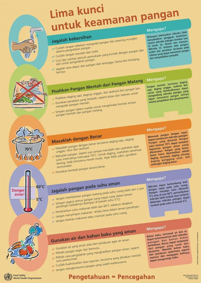 Sumber : Food Safety - WHO/BPOM