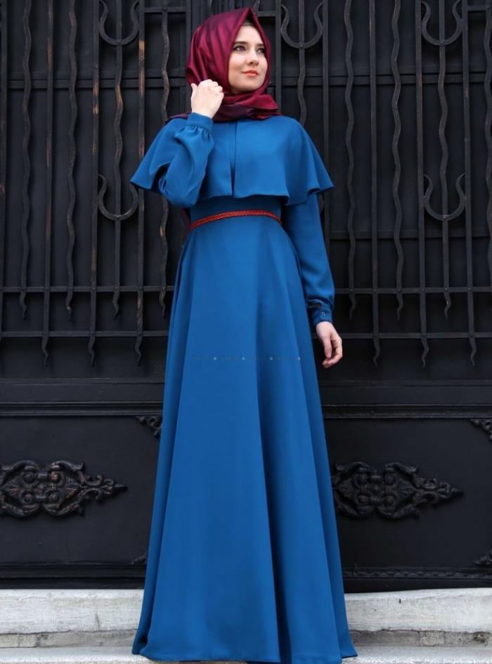 Model Gamis Brokat Kombinasi Batik