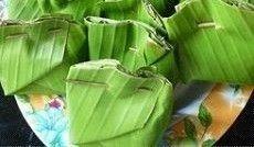 Tape Ketan yang dibungkus daun pisang. Sumber foto: Pinterest