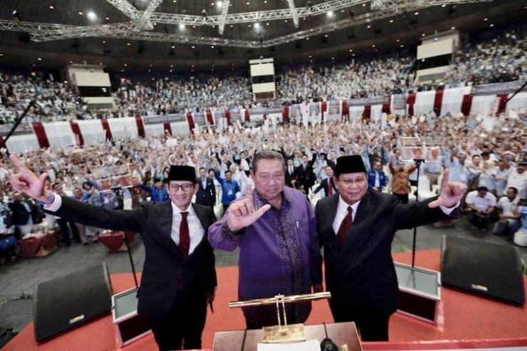 Sandiaga Uno, SBY dan Prabowo