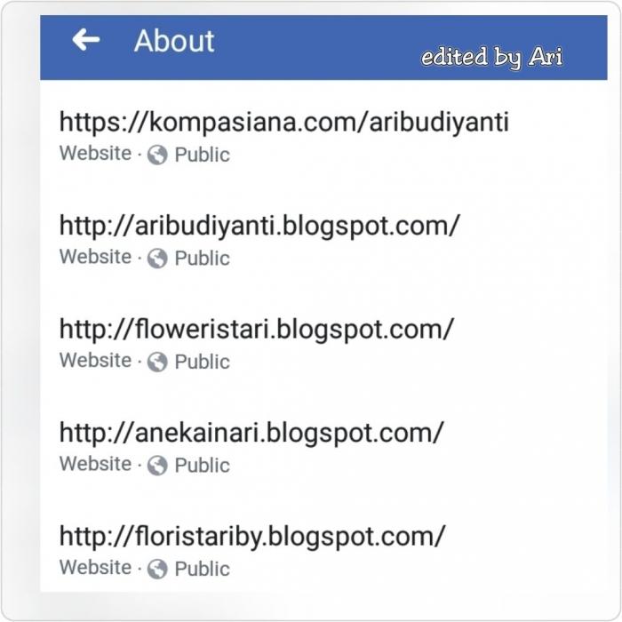 Blog yang saya kelola. Dokumen pribadi