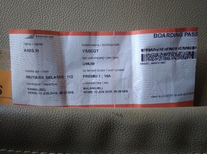 Tiket harus dicetak dulu sebelum digunakan | dokpri