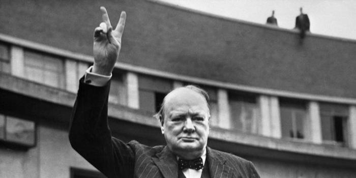 Winston Churchill,PM Inggeris(sumber:kompas.com)