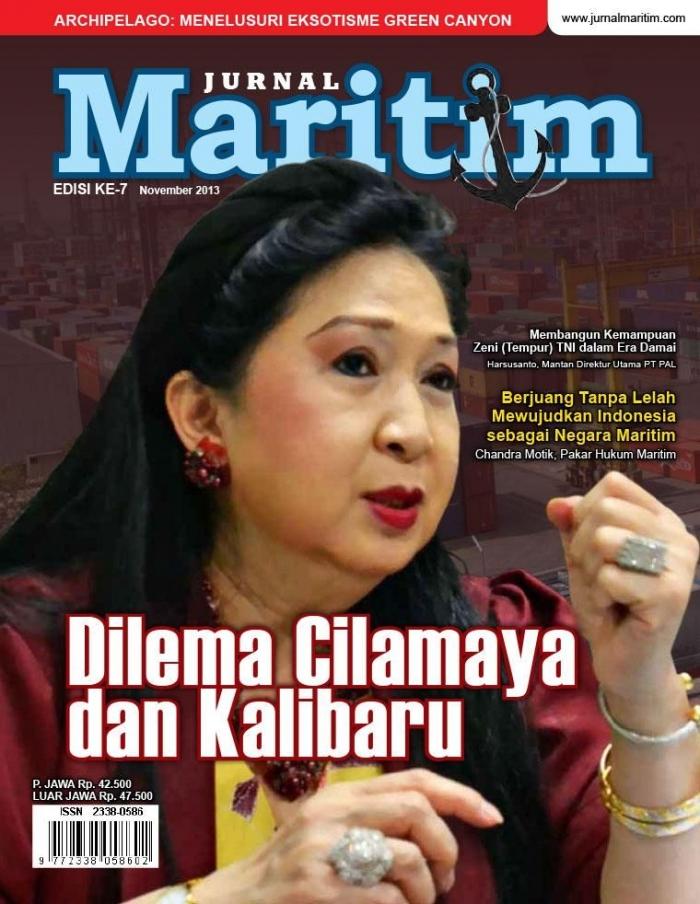 Menjadi Cover Majalah Maritim.