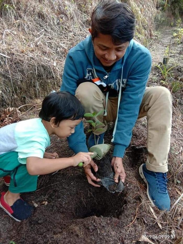 Program Menanam Pohon di Bukit sekitar Danau Toba