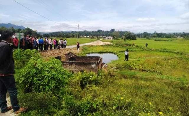 Sebidang Sawah Milik Raja Ompu Dongan. Di lokasi inilah direncanakan akan dibangun Tugu Raja Mangarobean Siagian (Facebook/Andi Pardosi)