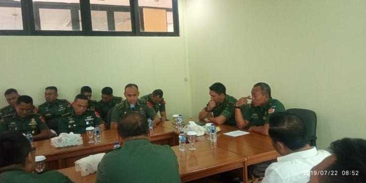 Suasana acara KKL Pasis Seskoad Dikreg LVII di aula Makodim 0505/Jakarta Timur | dokpri